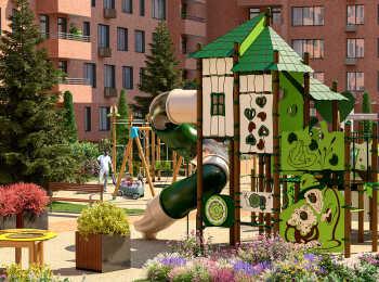 Детская площадка во дворе комплекса